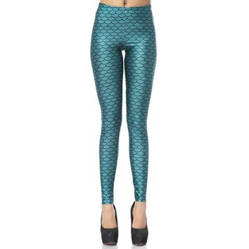 """Mermaid"" Leggings (Aqua)"