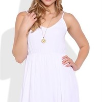 Slip Dress with Crochet Trim Hem