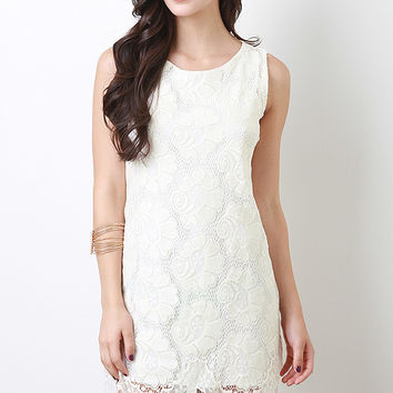 Crochet Floral Lace Dress