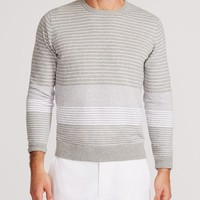 Sag Harbor - Grey & White Stripe