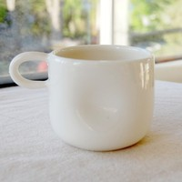 Dent 1Finger Mug by PigeonToeCeramics on Etsy
