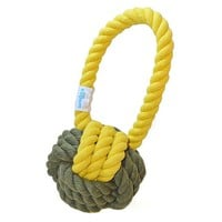 Have a Ball Rope Toys, Olive/Yellow, Set of 2, Toys