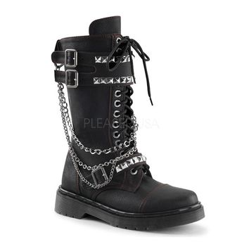 "Women's ""Rage"" Boots with Detachable Chains by Demonia (Black)"