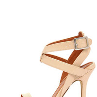 Rosita 3 Nude Ankle Strap Dress Sandals