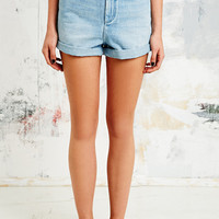BDG High-Waist Roll Hem Denim Shorts - Urban Outfitters