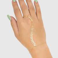 Rory Chevron Hand Jewelry - Gold