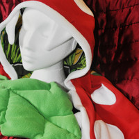 Mario Piranha Plant Hood by TrafficCone on Etsy