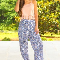 Reservations At The Resort Pants-Navy
