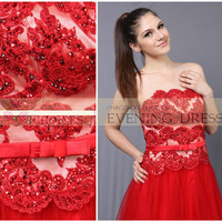 Hot Sale 2014 Red Lace Top Short Prom Dresses 2014 Sleeveless Ball Gown Wedding Dress, View prom dress, Choiyes Evening Dress Product Details from Chaozhou Choiyes Evening Dress Co., Ltd. on Alibaba.com