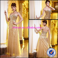 Sheer Illusion Leg-Slit Prom Dresses glitzy Sequin Gold sleeveless sweetheart beaded Off Shoulder Long Prom Dress, View prom dress, choiyes Product Details from Chaozhou Choiyes Evening Dress Co., Ltd. on Alibaba.com