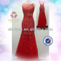 Choiyes AO71101 Red Backless Sleeveless Crystal Beaded Shiny Evening Dresses With Beads 2014, View crystal beaded corset bodice wedding dress, Choiyes Product Details from Chaozhou Choiyes Evening Dress Co., Ltd. on Alibaba.com