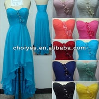 E61818 Blue classic Sweetheart high-low hem Appliqued Chiffon Evening Dress Mermaid, View Cheap Chiffon Dress, Choiyes Product Details from Chaozhou Choiyes Evening Dress Co., Ltd. on Alibaba.com