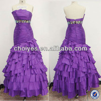 CY30031 Modest Strapless Multilayer Bottom Purple Taffeta Evening Gown 2014, View 2014 long evening gown, CHOIYES Product Details from Chaozhou Choiyes Evening Dress Co., Ltd. on Alibaba.com