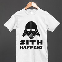 sith happens reg tee-jh - glamfoxx.com - Skreened T-shirts, Organic Shirts, Hoodies, Kids Tees, Baby One-Pieces and Tote Bags
