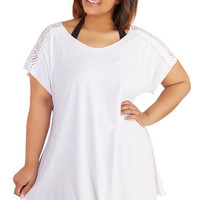 Becca Etc Cover-up Waikiki Beach Cover-Up Dress in White - Plus