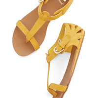 ModCloth Festival Walk on Sunshine Sandal in Yellow