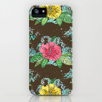 hibiscus surf coffee iPhone & iPod Case by Sharon Turner | Society6