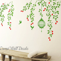 Tree wall decals branch wall decals vinyl vine wall by cuma