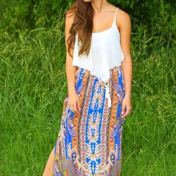 Poetic Justice Skirt-Cobalt