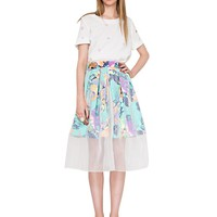 Exotic Floral Organza Skirt
