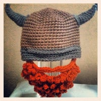 Crochet Viking Beard Hat by magicalshan on Etsy