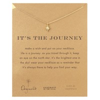 Gold Dipped It's The Journey Necklace