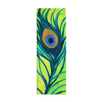 Original Painting Peacock Feather 4x12 Acrylic Canvas by nJoyArt