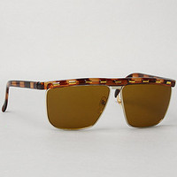 Replay Vintage Sunglasses The Metal Stitch Sunglasses in Brown : Karmaloop.com - Global Concrete Culture