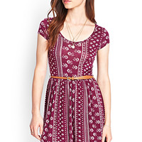 FOREVER 21 Cap Sleeve Printed Dress