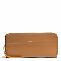 SLIM CONTINENTAL ZIP WALLET IN EDGEPAINT LEATHER