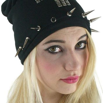 Slouchy Beanie Cross Studs by Too Fast