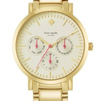kate spade new york 'gramercy grand' multifunction bracelet watch, 38mm