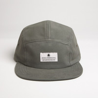 Brushed Chino Camp Cap - Field Grey