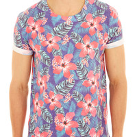 Pink All Over Floral Printed T-Shirt - Mens T-Shirts & Vests - Clothing - Burton