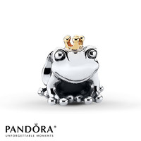 Pandora Charm Frog Prince Sterling Silver/14K Gold