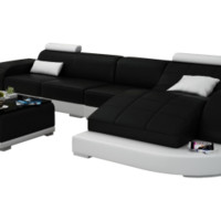 RJ Small Leather Sectional from Scene Furniture - Opulentitems.com