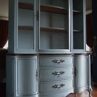 Lightly Distressed French Country Hutch in a French by Artisan8