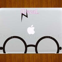 Harry Potter Glasses Mac Decal Macbook Stickers Macbook by yucao