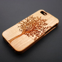 Buy 1 Get 1 Free - Tree Wood Case for iPhone 5c , 5s , 4s , Wooden iPhone 5s Case , iPhone5 Case Wood , Personalized iPhone 5 Case Wood