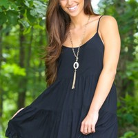 Write Me Lyrics Dress-Black
