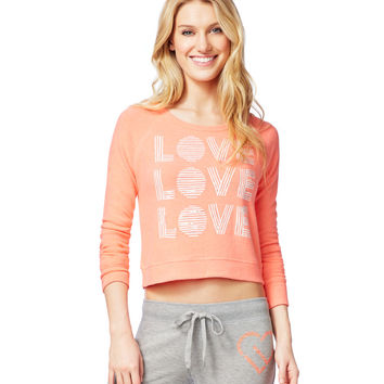 LLD Love Trio Crop Sweatshirt