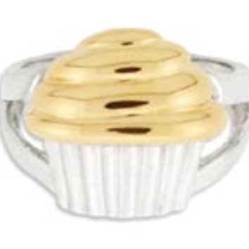 14K Gold/Sterling Silver Cupcake Ring: Personalized Boutique, Inc.