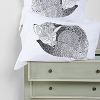 The Rise And Fall Sleeping Fox Pillowcase - Set Of 2 - Urban Outfitters