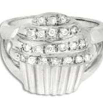 14K Gold Cupcake Ring w/diamonds: Personalized Boutique, Inc.
