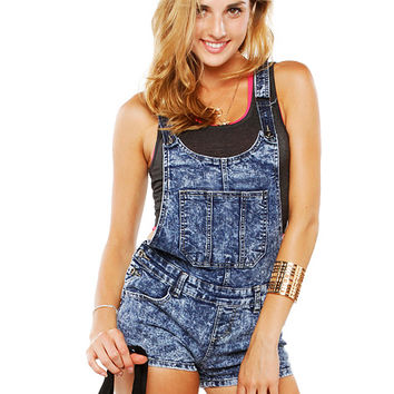 Papaya Clothing Online :: POCKET DENIM OVERALL ROMPER