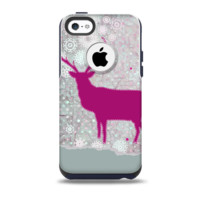 Pink Stitched Deer Collage Skin for the iPhone 5c OtterBox Commuter Case