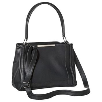 Mossimo® Satchel with Removable Crossbody Strap - Black
