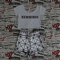 HEMMINGS 5SOS Crop Top Ladies Short Sleeve Stretch T Shirt Tee