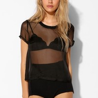Silence + Noise Sheer Organza Tee - Urban Outfitters