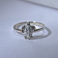 TURTLE ring sterling silver